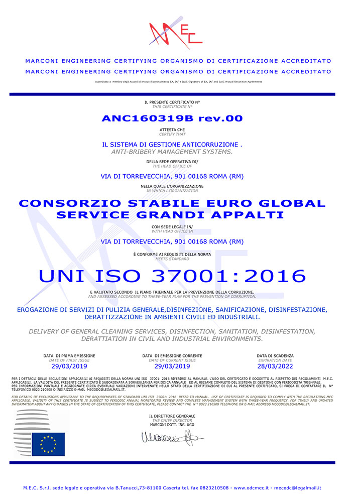 UNI ISO 37001:2016