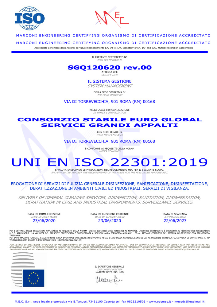 UNI EN ISO 22301:2019